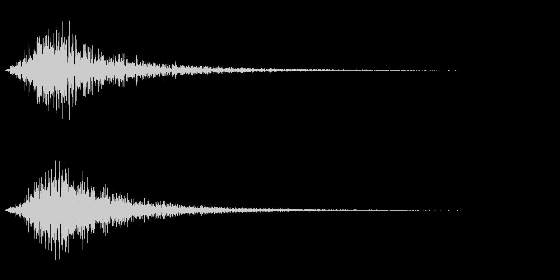シューという蒸気の効果音の未再生の波形