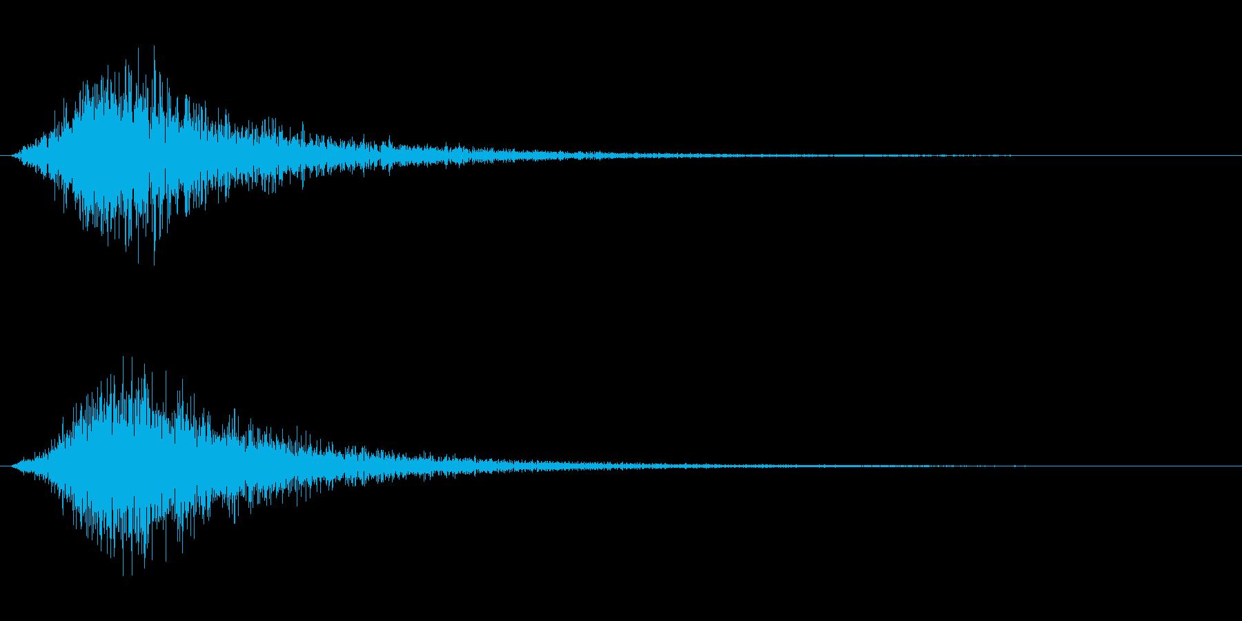 シューという蒸気の効果音の再生済みの波形