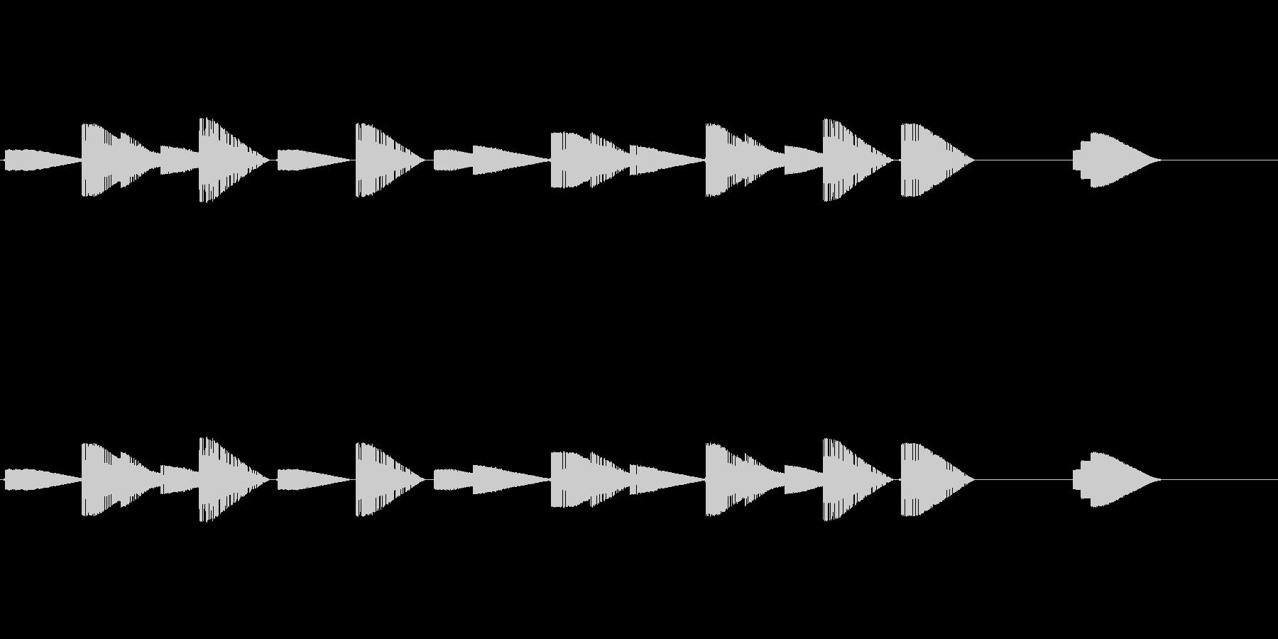ファミコン風ゲームクリア時のジングルですの未再生の波形