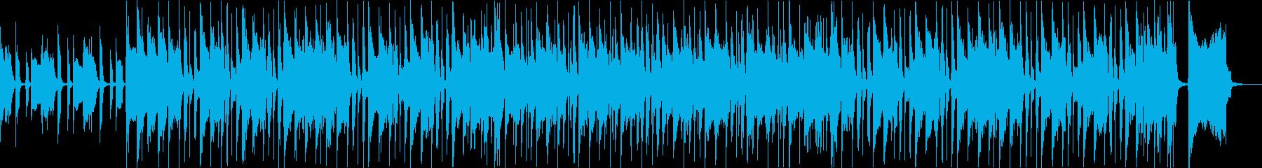 元気で陽気、気軽なブルースファンクBGMの再生済みの波形