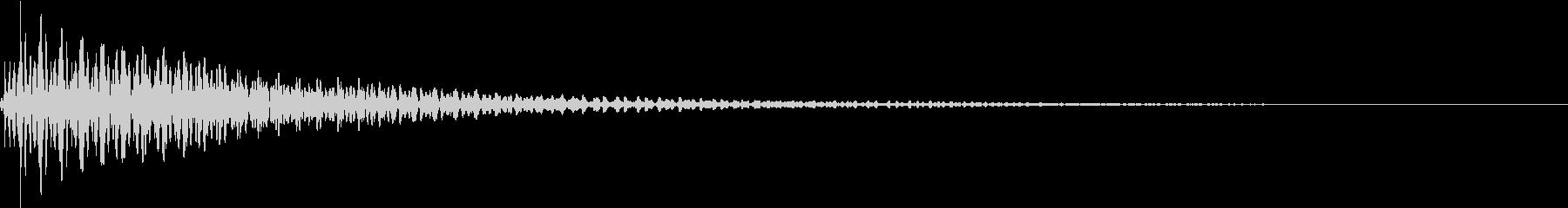 Button 決定ボタン 低音重厚の未再生の波形