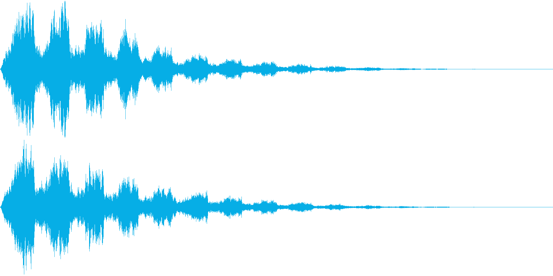 機械の停止音の再生済みの波形