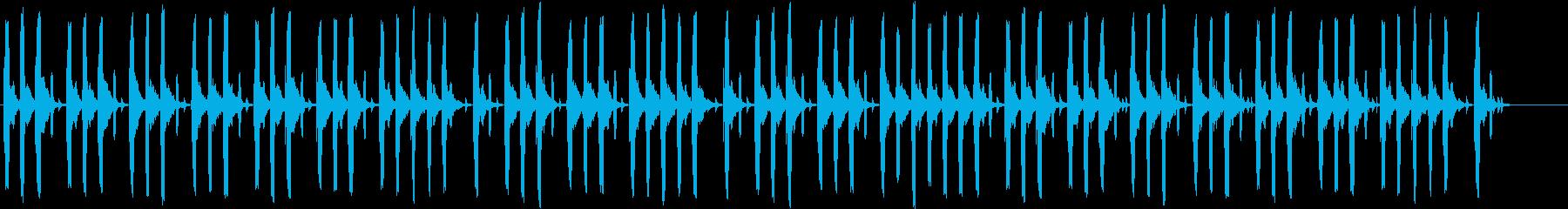 リコーダーで作ったほのぼのした印象の曲の再生済みの波形