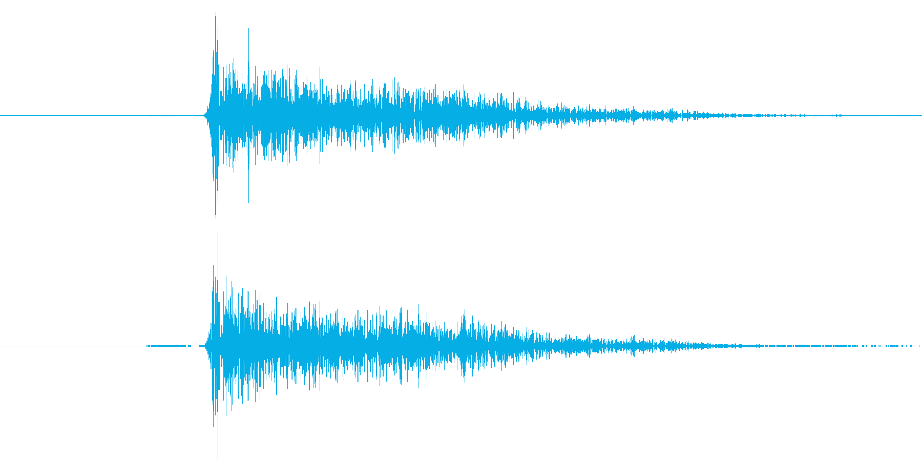パン!、クラッカーの音、単発、パーティーの再生済みの波形