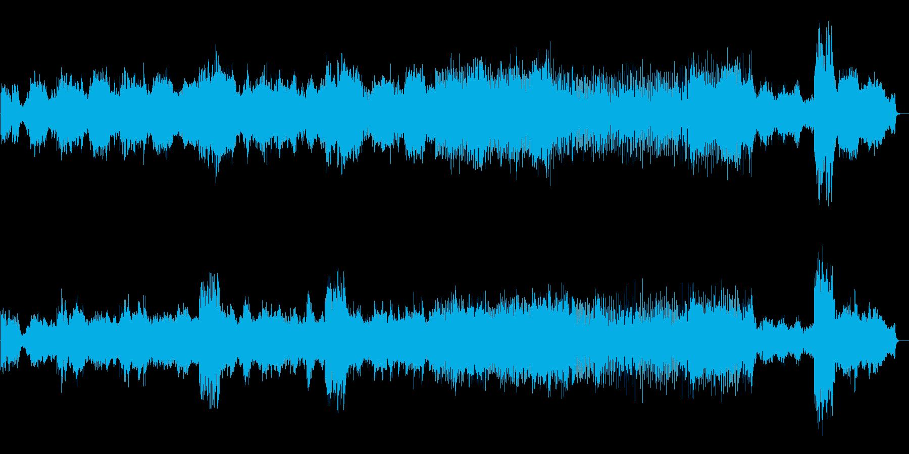 エキゾチックな民族音楽風ボーカル曲の再生済みの波形