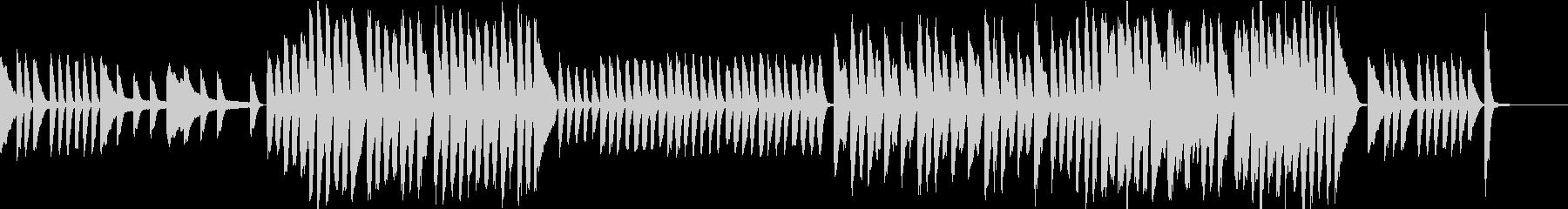 ほのぼのした雰囲気のピアノBGMの未再生の波形