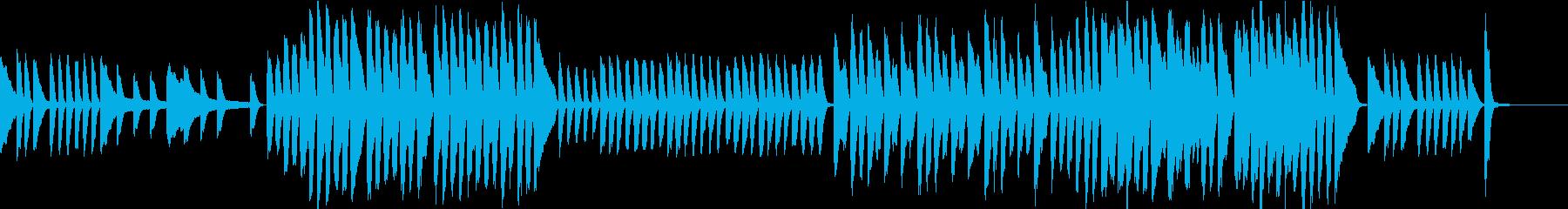 ほのぼのした雰囲気のピアノBGMの再生済みの波形