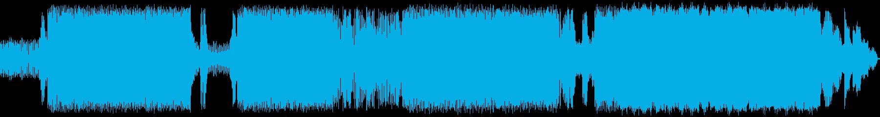 低音を重視したダンスミュージックの再生済みの波形