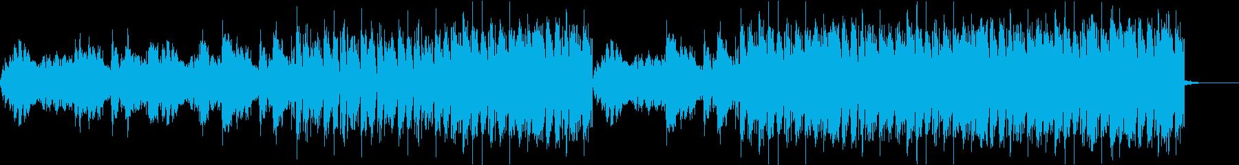 【1分版】シリアスでクールなテクノの再生済みの波形