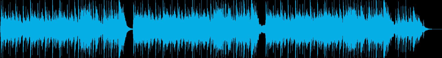 優しくて切ないアコースティックギター曲の再生済みの波形