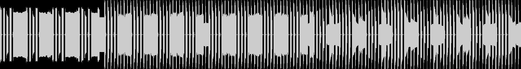 おとぎの国のような不思議な8bitの曲の未再生の波形