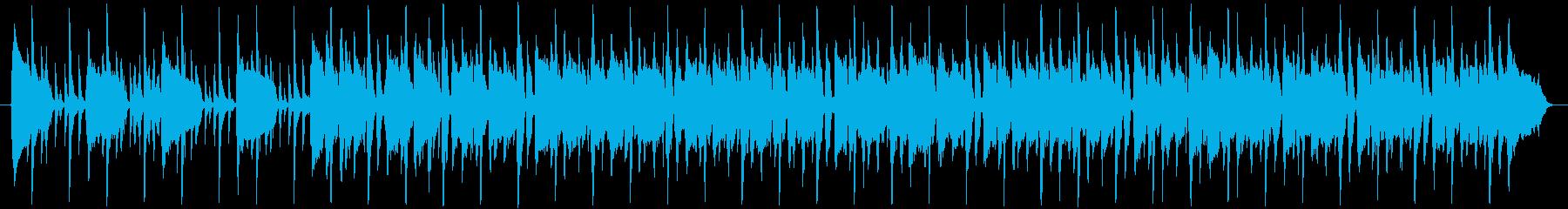 カッティングが印象的なファンクの再生済みの波形