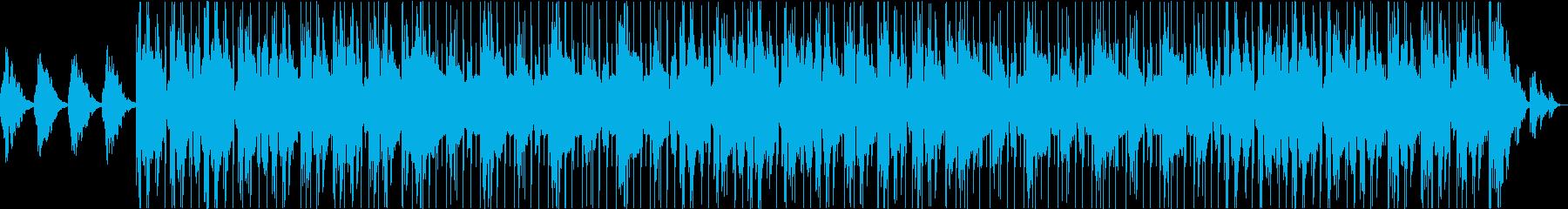 深いリバーブとギターのアンビエントビートの再生済みの波形