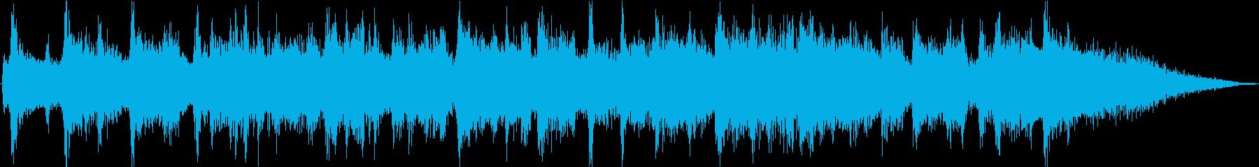 約15秒のおしゃれアコースティック生演奏の再生済みの波形