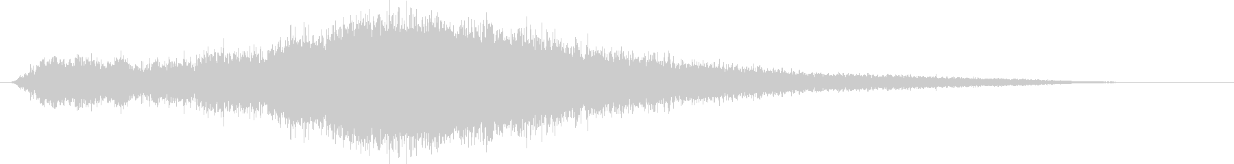 ヒューン (大型ミサイルの発射音)の未再生の波形