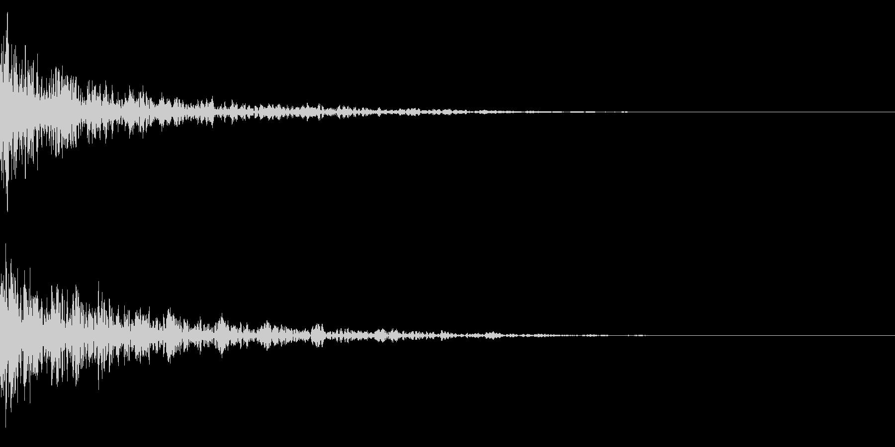 ドーン-38-2(インパクト音)の未再生の波形