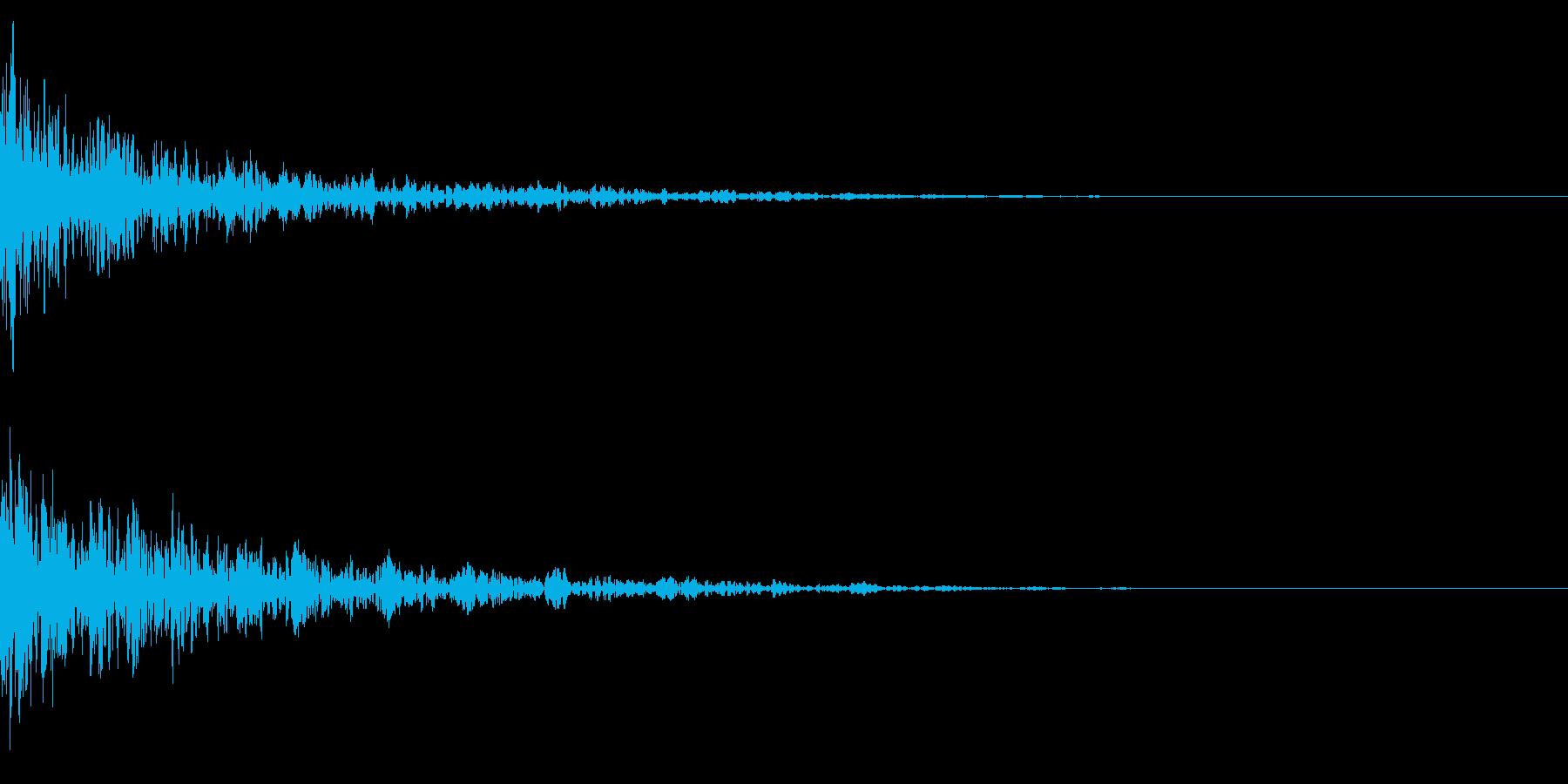 ドーン-38-2(インパクト音)の再生済みの波形