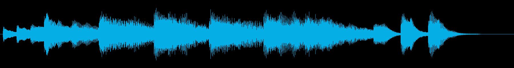 ペット・キッズ動画のエンディングカードの再生済みの波形