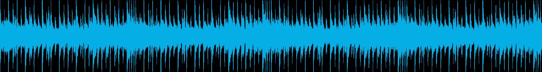 チャイニーズな雰囲気のBGMの再生済みの波形