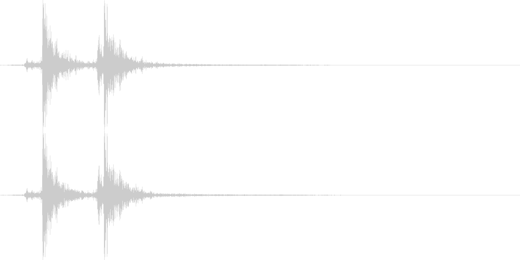 メッセージウィンドウSE_ロック_01の未再生の波形