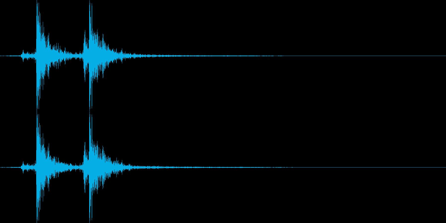 メッセージウィンドウSE_ロック_01の再生済みの波形