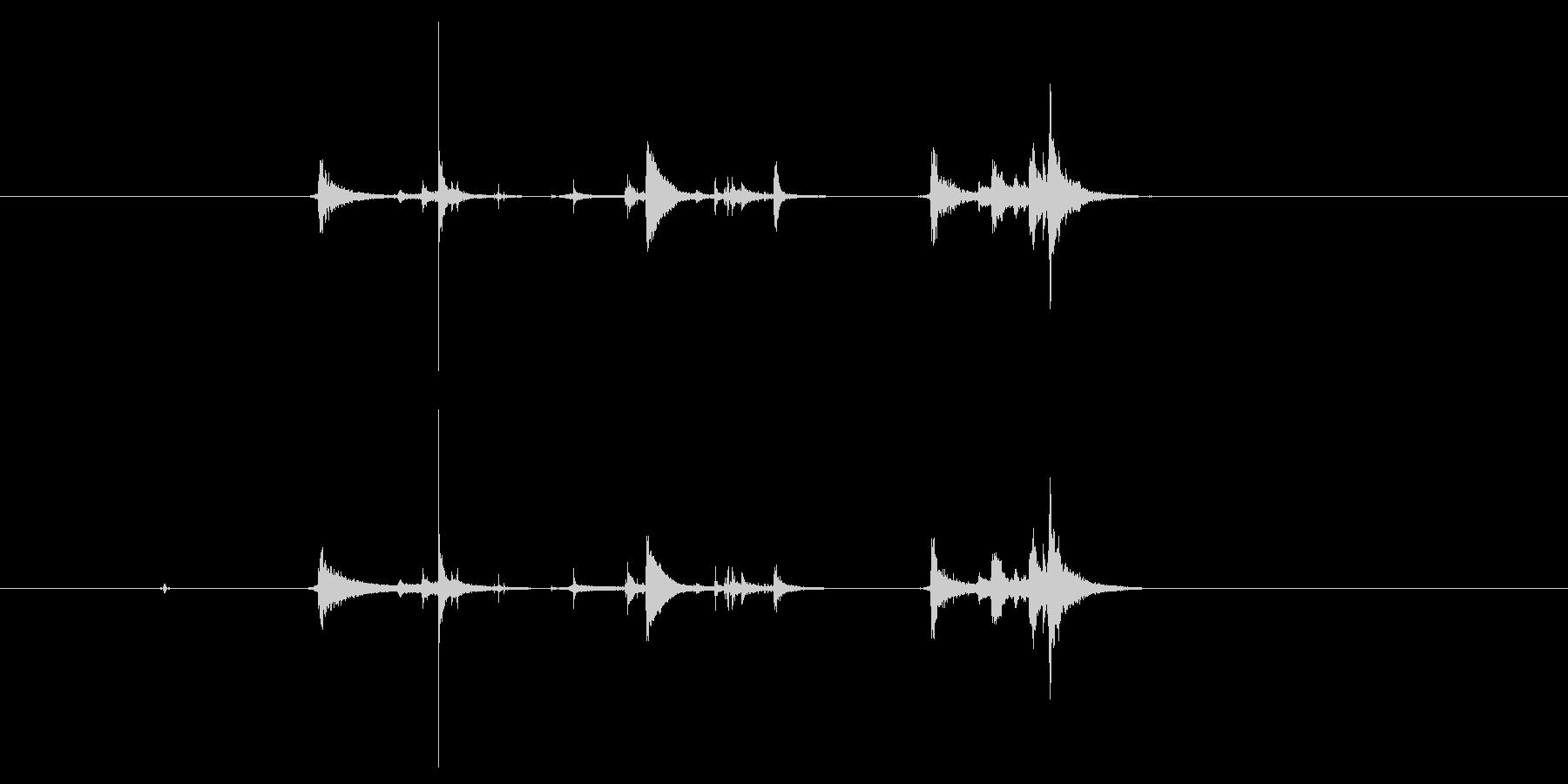 【録音】氷を入れる音の未再生の波形