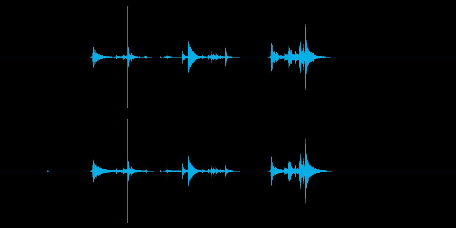 【録音】氷を入れる音の再生済みの波形