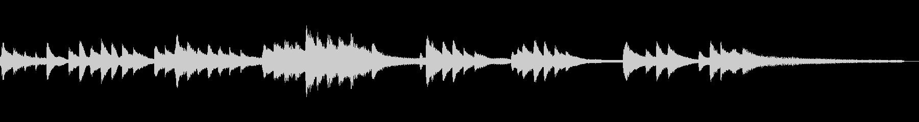 和風のジングル2b-タックピアノの未再生の波形
