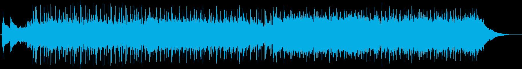 企業VPやCM用ポップでコミカルな曲の再生済みの波形