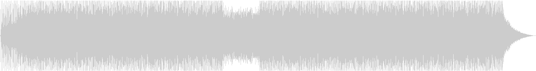 Cool and exhilarating opening's unreproduced waveform