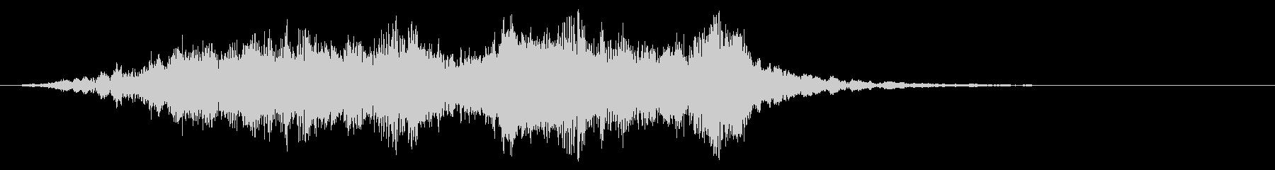 不気味なミュージカルのロゴの未再生の波形