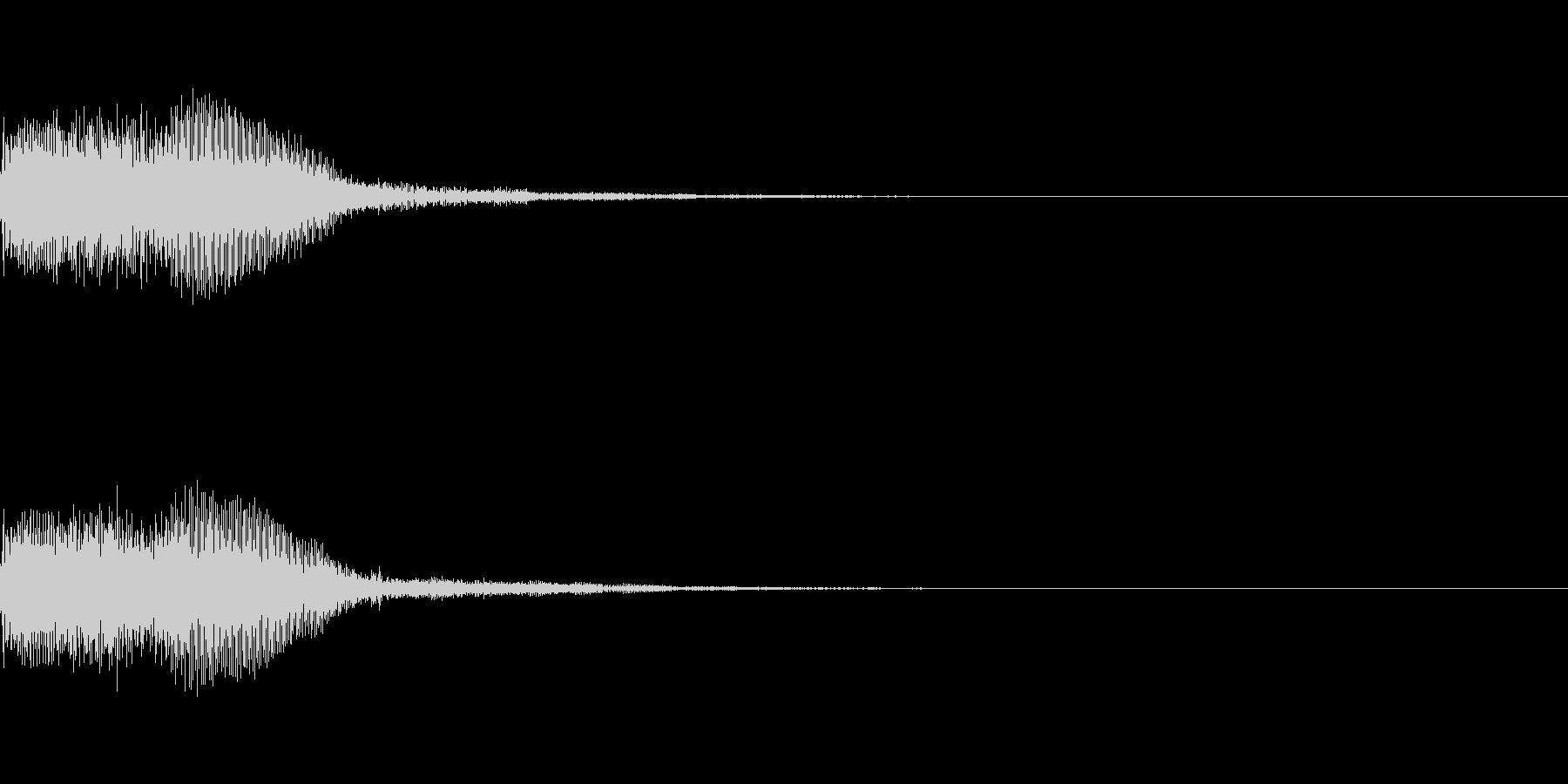 シンセサイザー 決定スタートセレクト4の未再生の波形