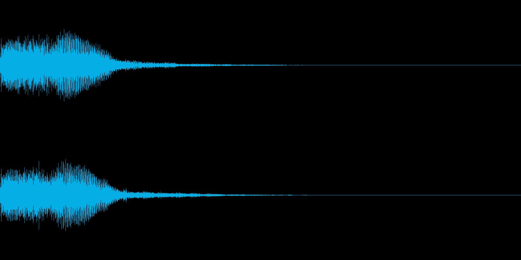シンセサイザー 決定スタートセレクト4の再生済みの波形