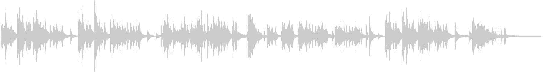 想い出に耽るようなピアノバラードの未再生の波形