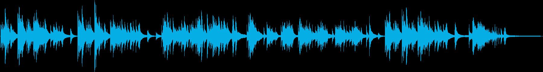 想い出に耽るようなピアノバラードの再生済みの波形