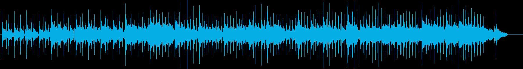 穏やかな伴奏とサックスの再生済みの波形