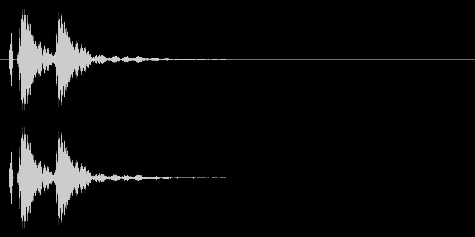 【ポポン!】とてもリアルな太鼓の鼓!09の未再生の波形