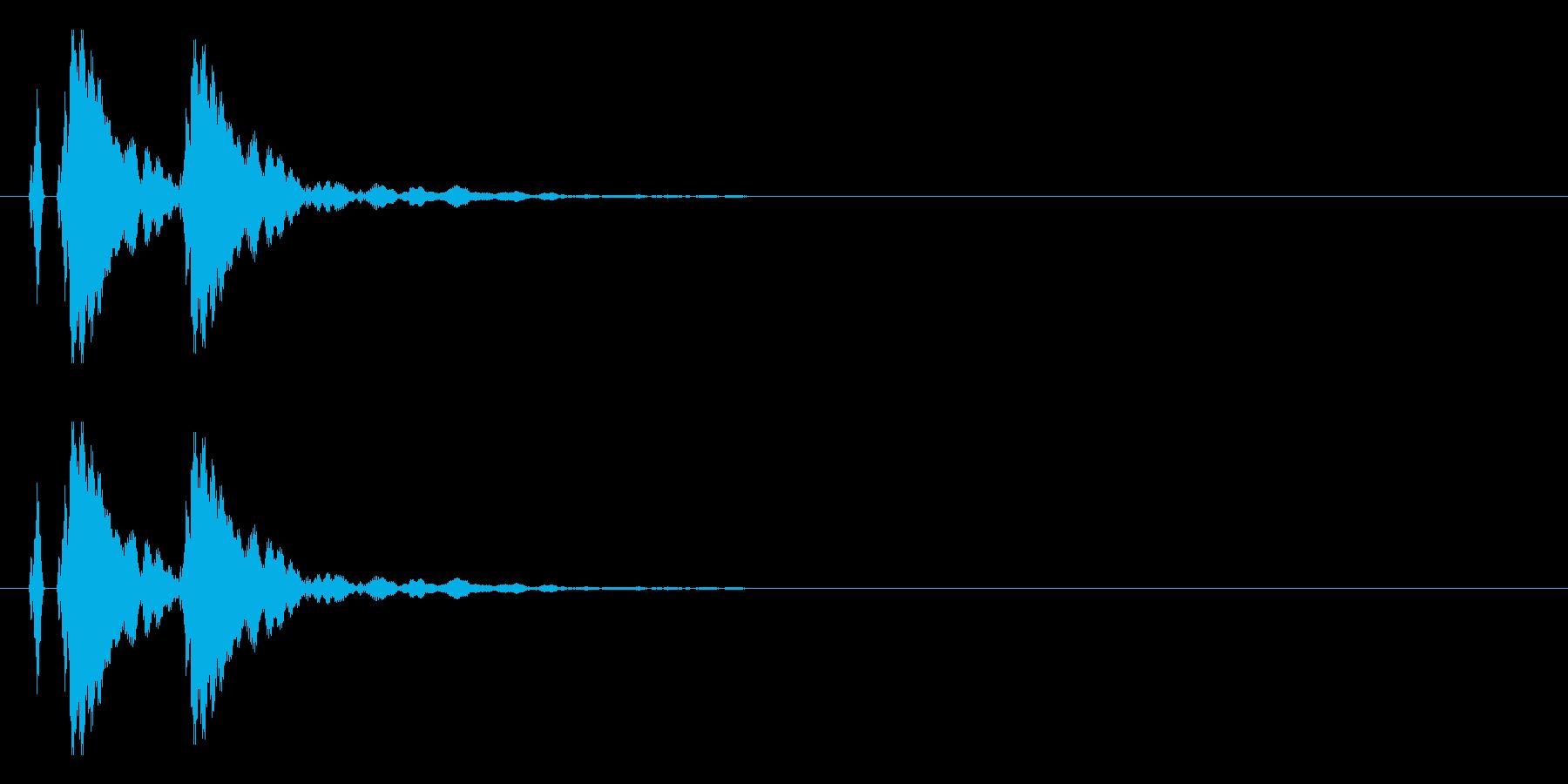 【ポポン!】とてもリアルな太鼓の鼓!09の再生済みの波形
