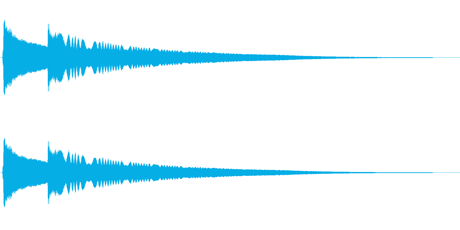 チリーンという風鈴の音の再生済みの波形