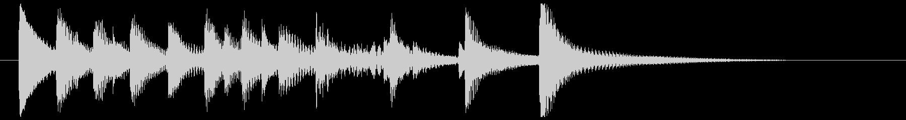 お茶目なマリンバのキュートなジングルの未再生の波形