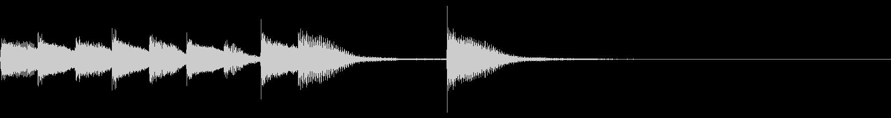 ピアノジングル 幼児向けアニメ系C-01の未再生の波形
