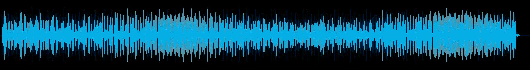 活気あるテクノミュージックの再生済みの波形