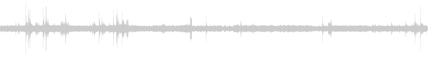 深夜の風鈴と虫の音 02の未再生の波形