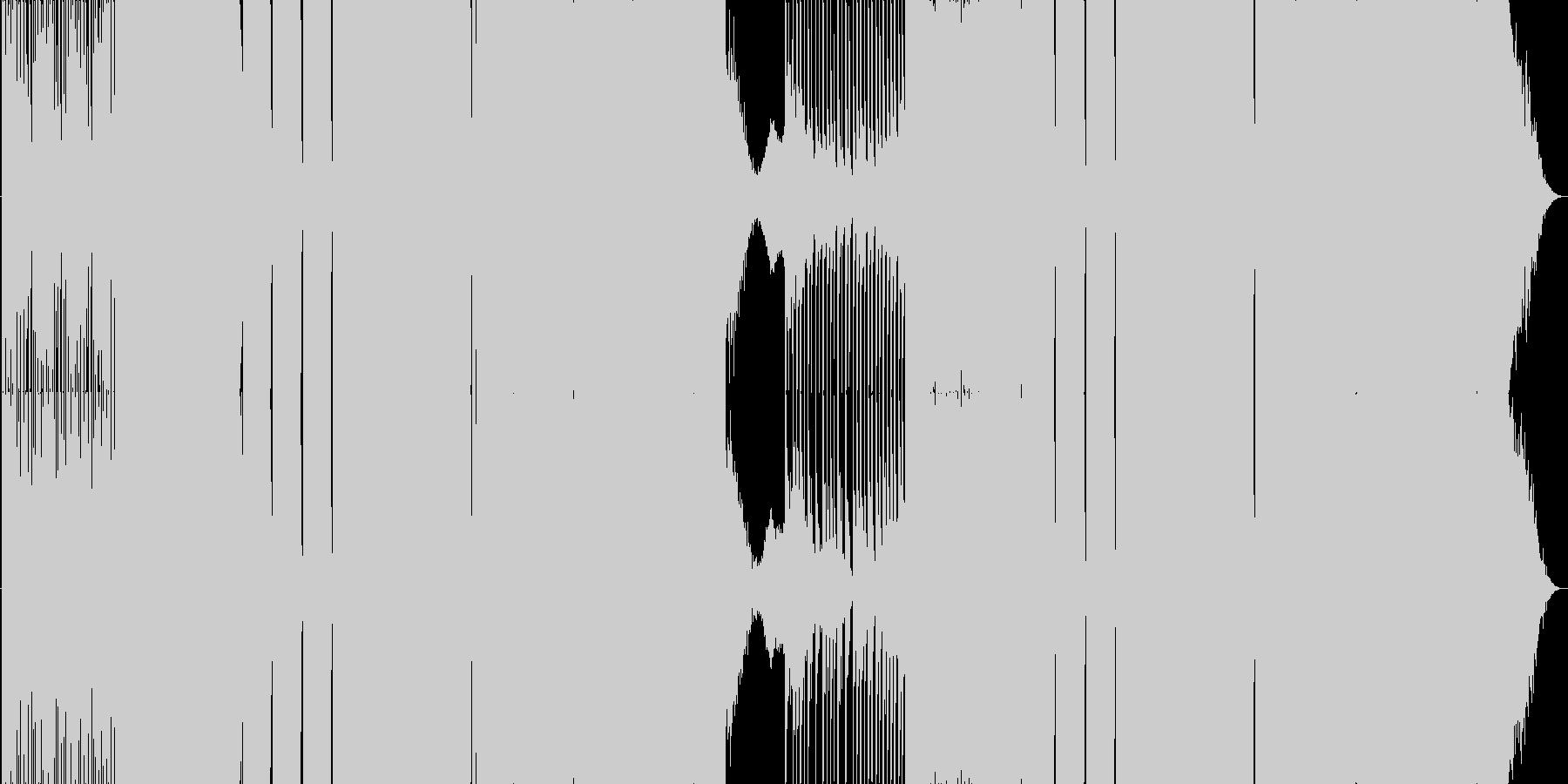 王道EDMの未再生の波形