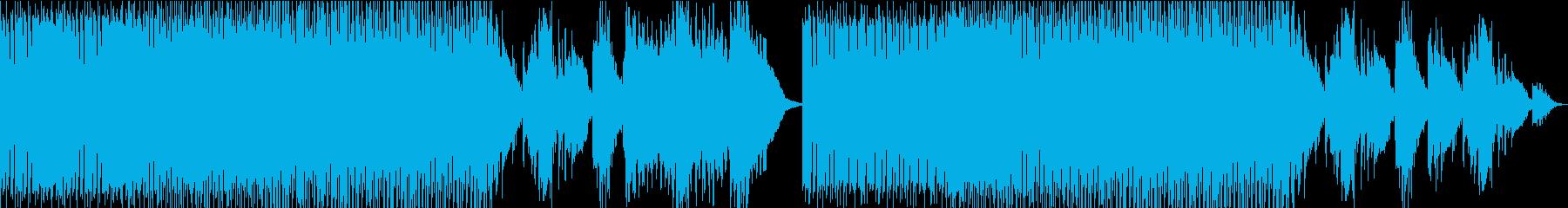 メロディアスで爽快感のあるEDMの再生済みの波形