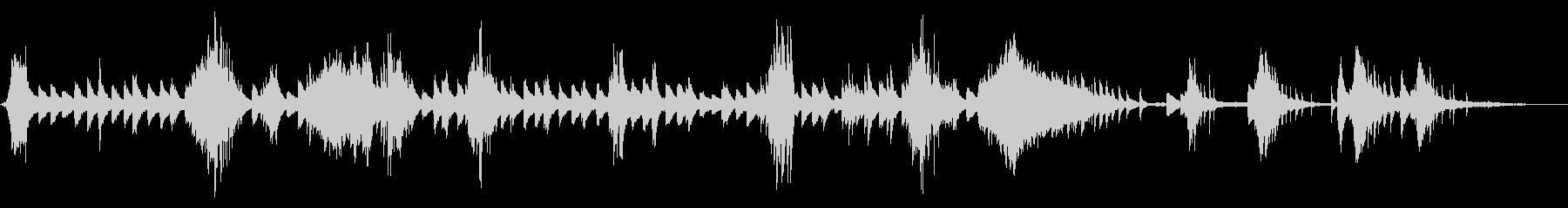 アドリブ風なピアノソロの叙情的なワルツの未再生の波形