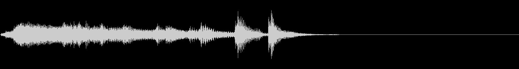 ハワイアンな「ちゃんちゃん」の未再生の波形
