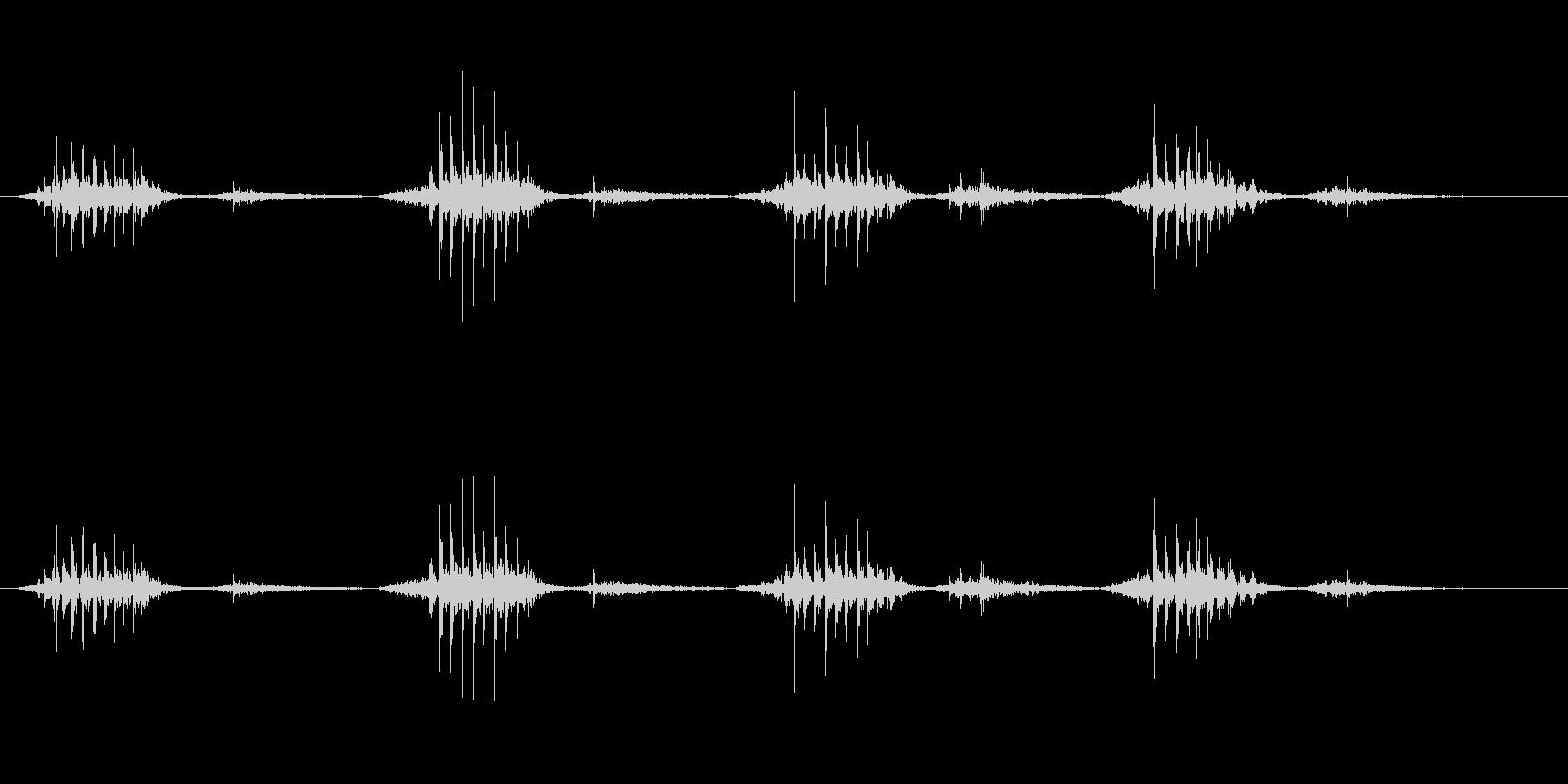 いびき漫画モンスターの未再生の波形