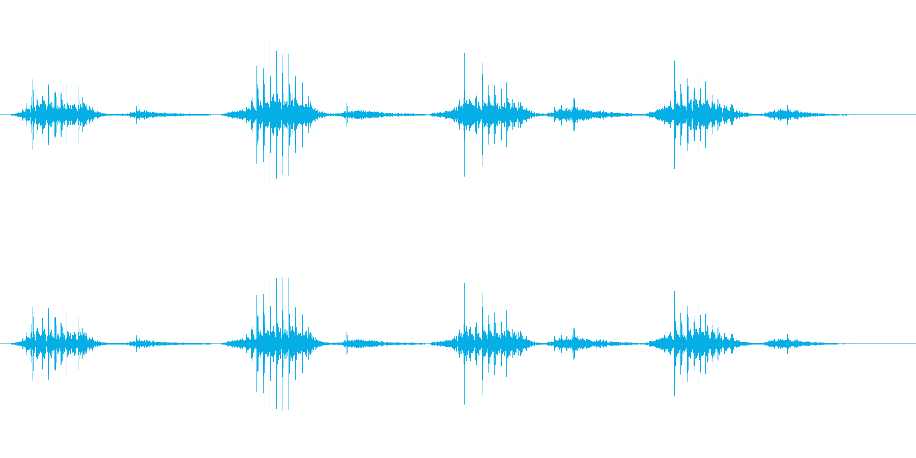 いびき漫画モンスターの再生済みの波形