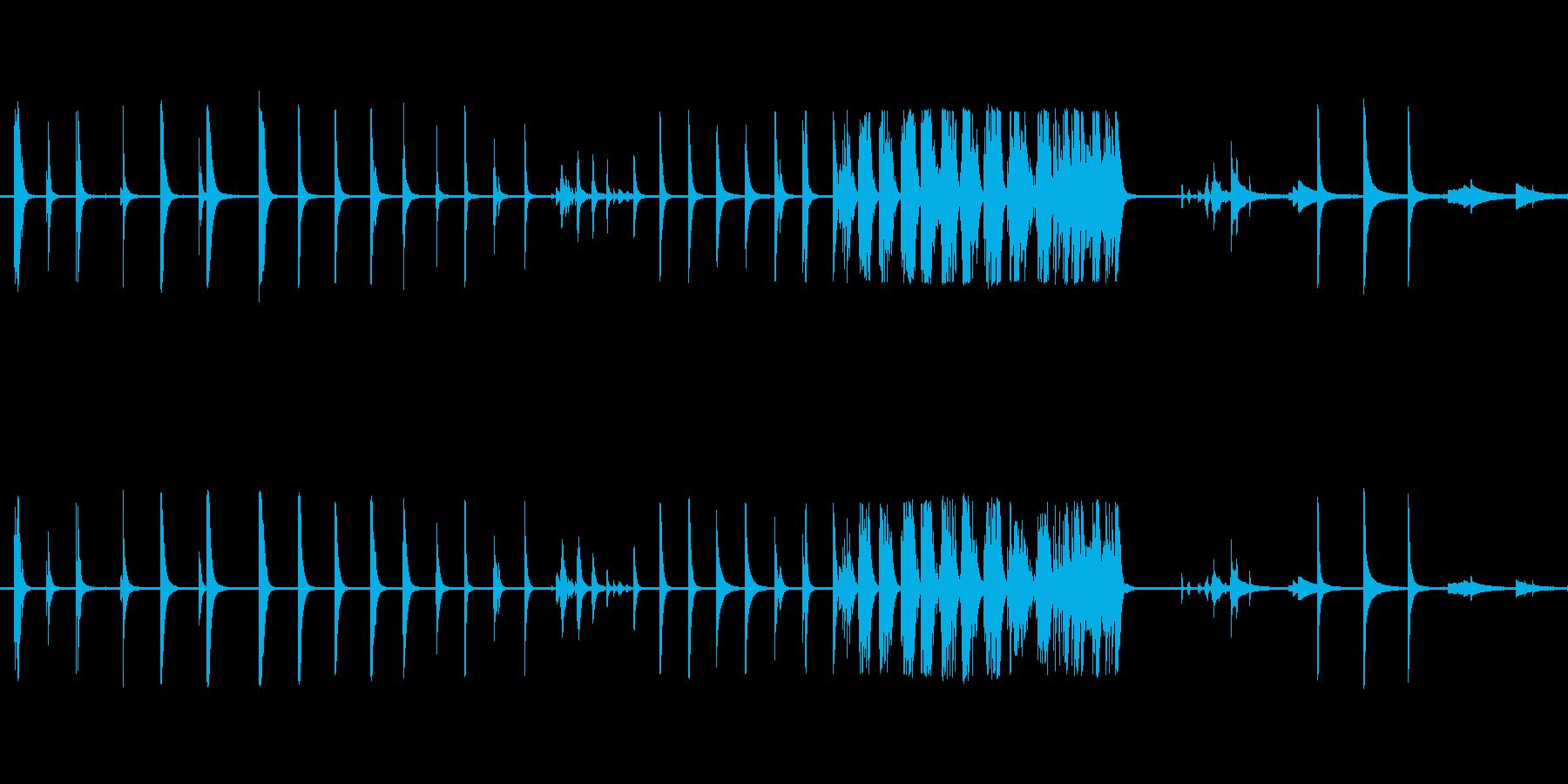 ベルテンプルリングアウト複数の再生済みの波形